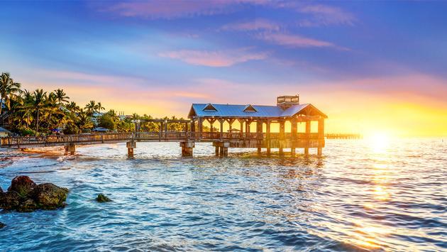 Key West, Florida, at sunset