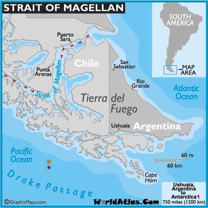 Ushuaia Argentina, Straight of Magellan