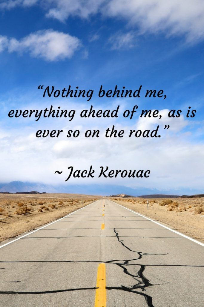 nothing ahead of me quote - an empty road stretching ahead