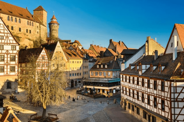 Old Town of Nuremberg, under the castle