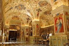 Ornate Vatican room in Rome