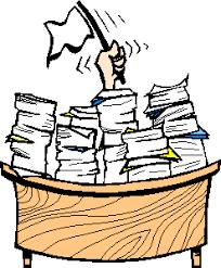 white flag waving above paperwork