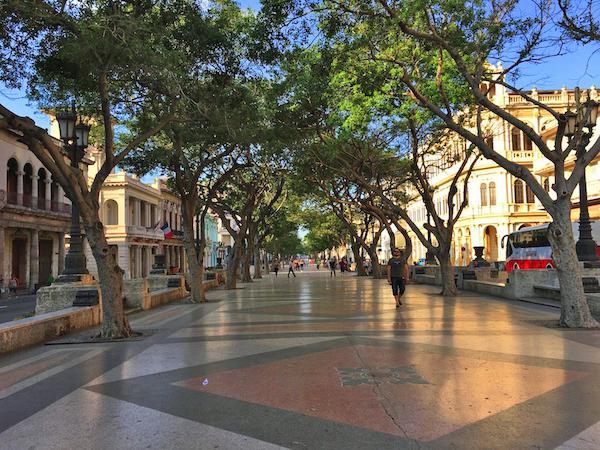 Paseo del Prado in Havana, Cuba