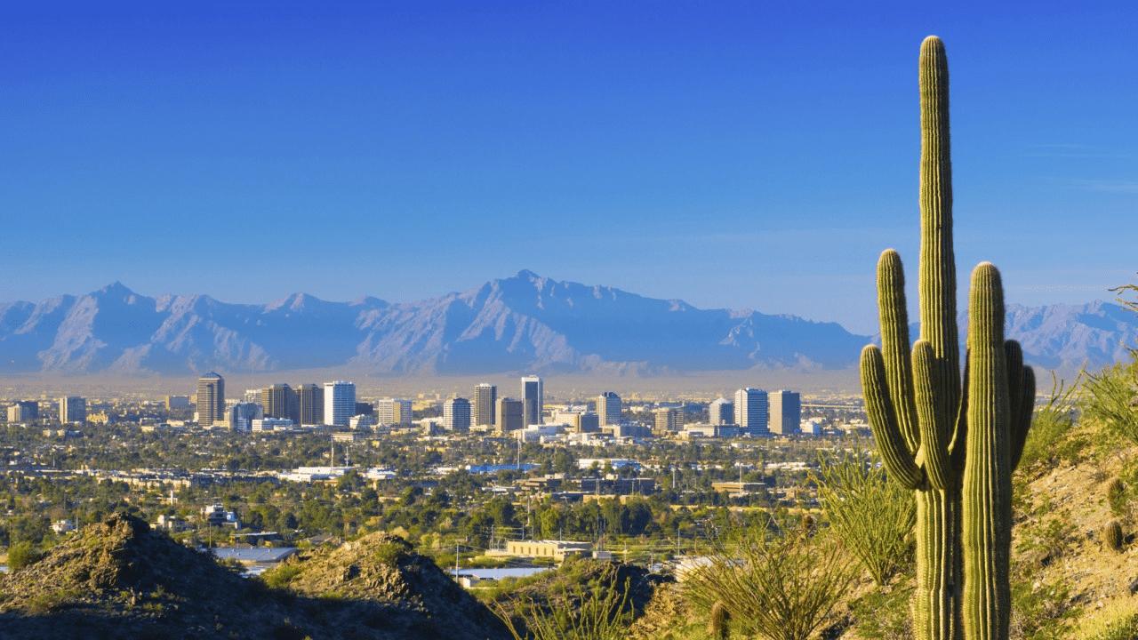 Phoenix city view in bright daylight