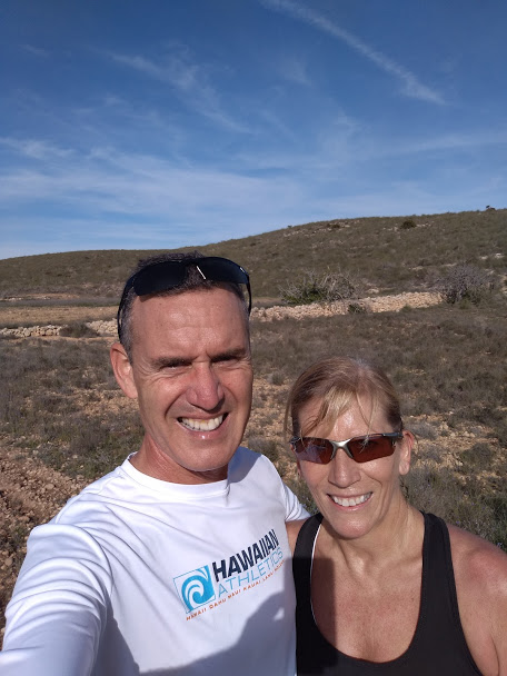 Mogsy and Richard in Cabo de Gata national park