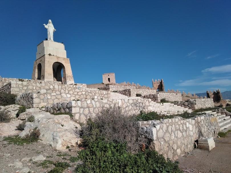 monument on a hill in Almeria