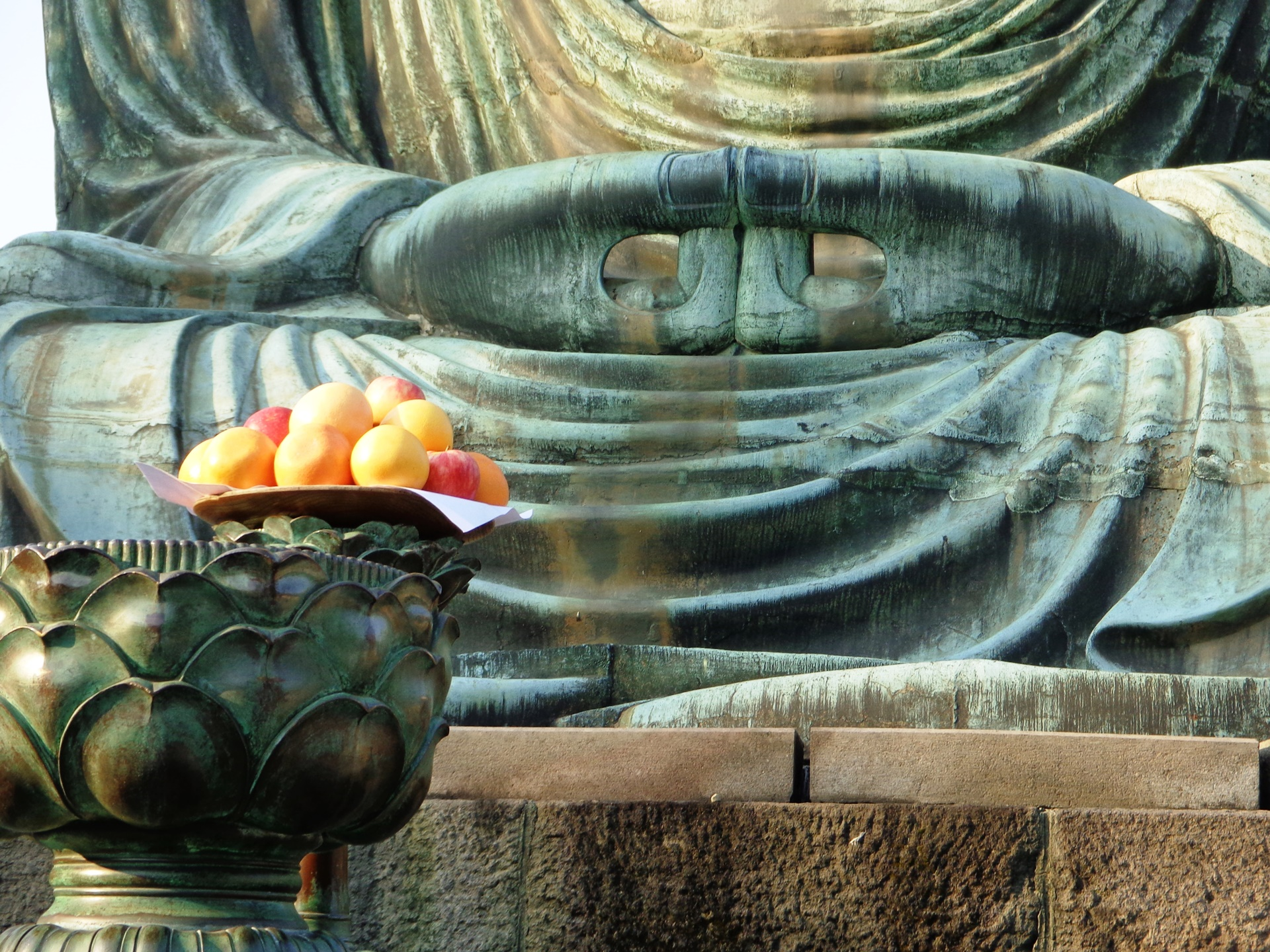 Lap of the Great Buddha, Kamakura, Japan