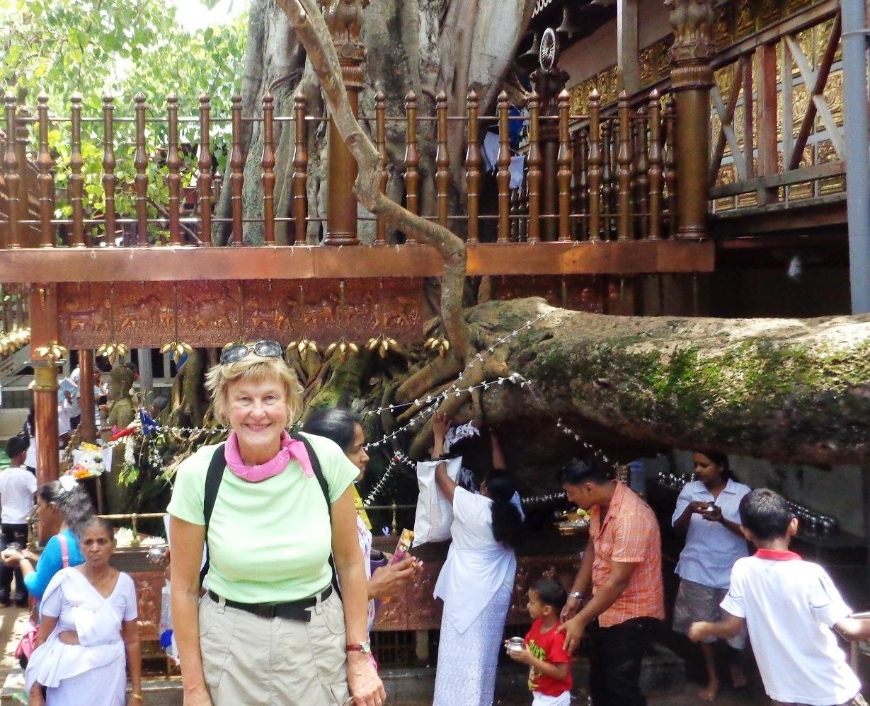 Author at Full Moon Poya celebrations in Colombo, Ceylon