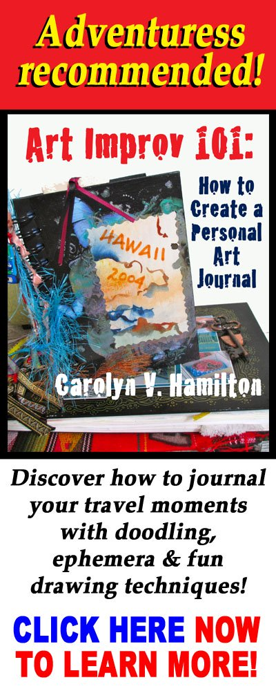 Art journal, art journaling, watercolor, Art Improv 101, doodling, travel journals