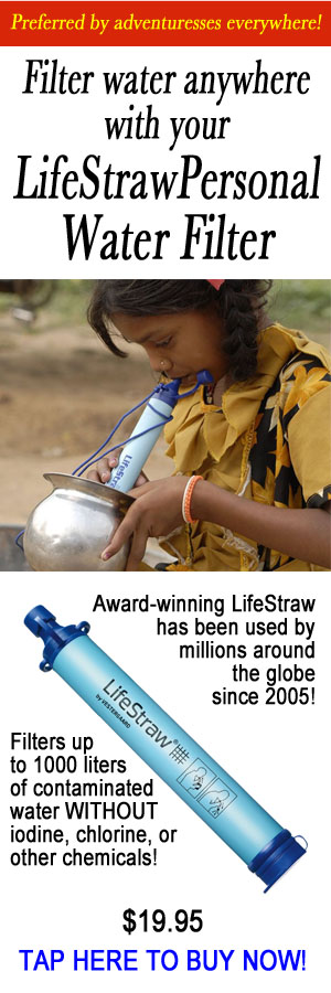 Filter water anywhere with your LifeStraw Personal Water Filter