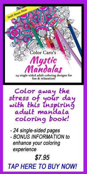 adult coloring, mandalas, Caro