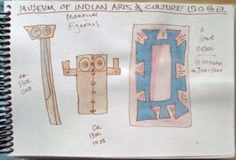New Mexico, Santa Fe, art journal, sketching, watercolor, Mexican culture, Museum of Indian Art & Culture