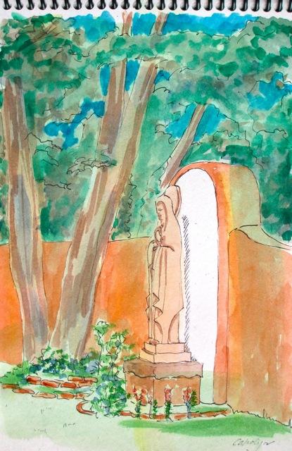 New Mexico, Santa Fe, art journal, sketching, watercolor, Mexican culture