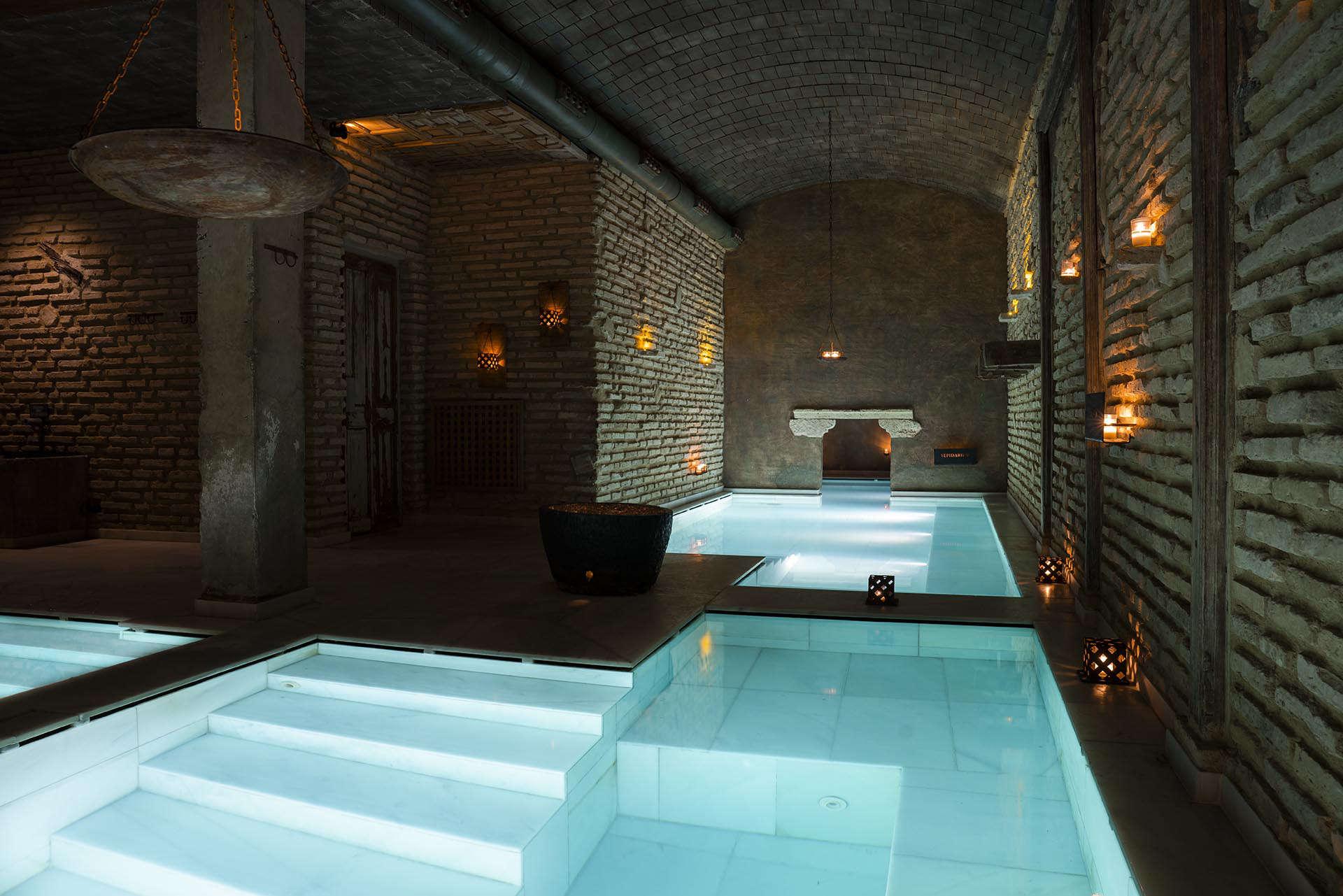 underground spa baths