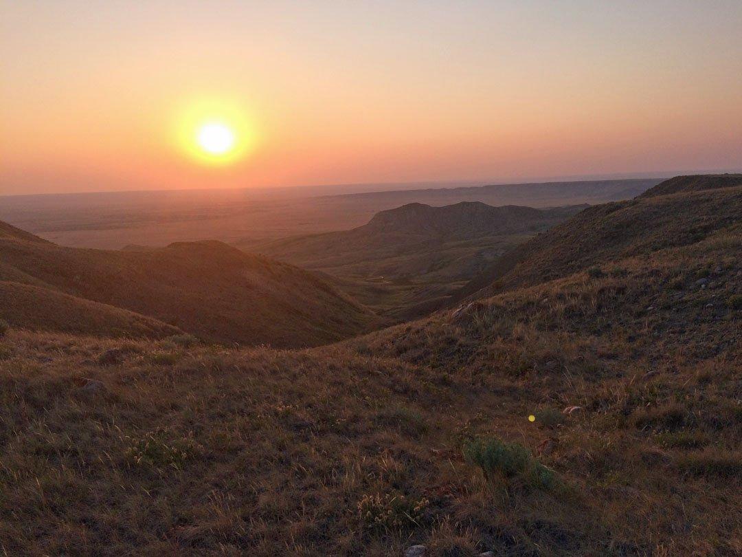 Crossing Grassland Saskatchewan Butte