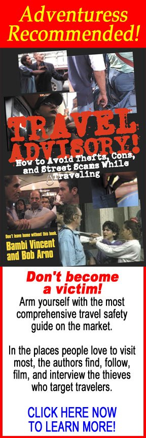 Travel advisory, thefts, cons, street scams, traveling, Bambi Vincent, Bob Arno