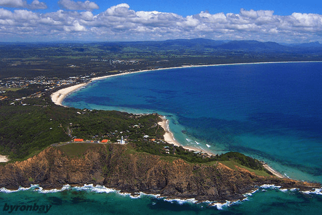 Air view of Cape Byron, the most Easterly point of Australia