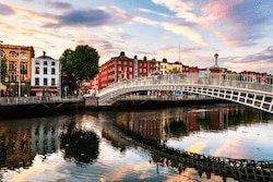 River Liffey bridge in Dublin, Ireland
