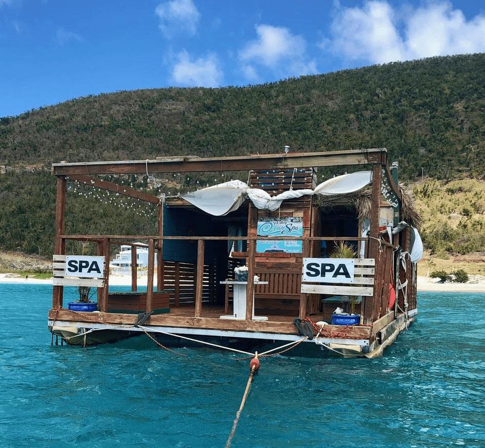 Floating spa in the British Virgin Islands